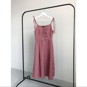 Plaid Cami Midi Dress
